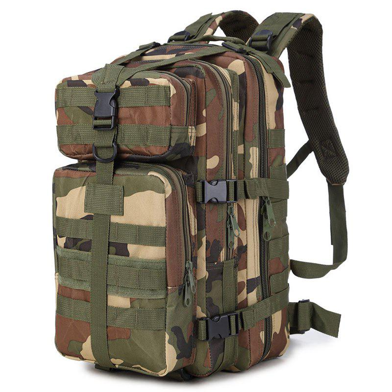 Increased Army Fans Outdoor Shoulders Backpack Bag - ARMY GREEN/CAMEL VERTICAL