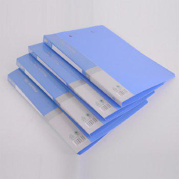 Thick PP Material A4 File Folder - BLUE