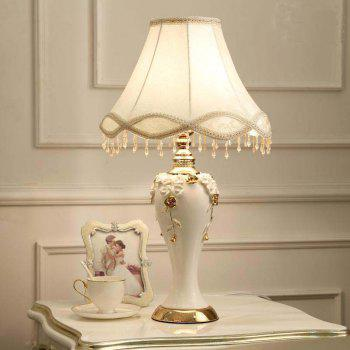 CT880-1 European Style American New Chinese Living Room Bedroom Bedside Ceramic Desk Lamp - WHITE