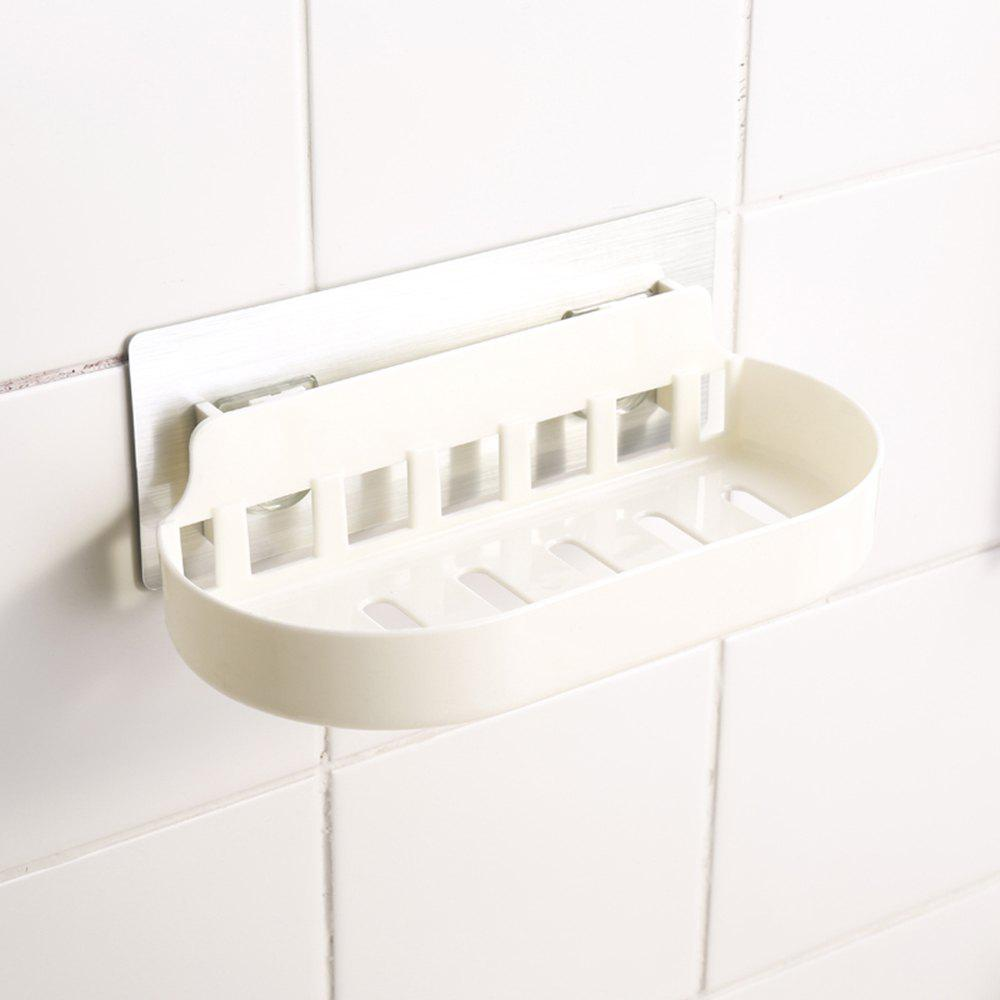 5060 Nordic Style Suction Rack Shelf Bathroom Wall Hanging Cosmetics Storage Racks - WHITE