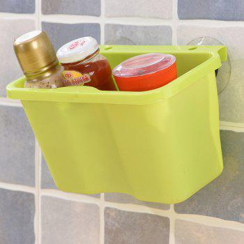 Plastic Trash Can Hanging the Kitchen Trashes Cupboard Debris Pail Multifunction - GREEN