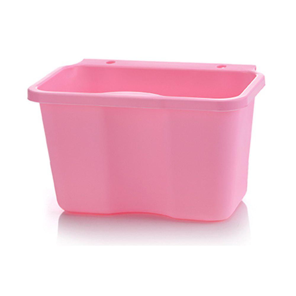 Plastic Trash Can Hanging the Kitchen Trashes Cupboard Debris Pail Multifunction - PINK