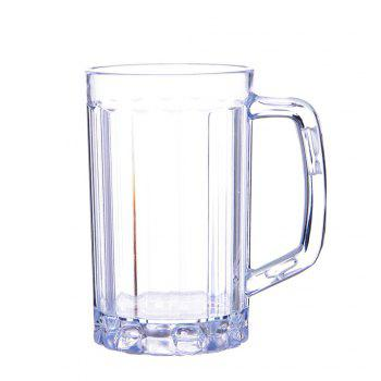 2Pcs Beer Glasses Clear Drink Party Cups Picnic Drinking Mug Tankards Great Gift - TRANSPARENT