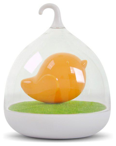 Bird Cage LED Lamp Intelligent Touch Sensor Charging Night Lights Sleeping in Fairy Tale Charging for Kids Gift - ORANGE/WHITE