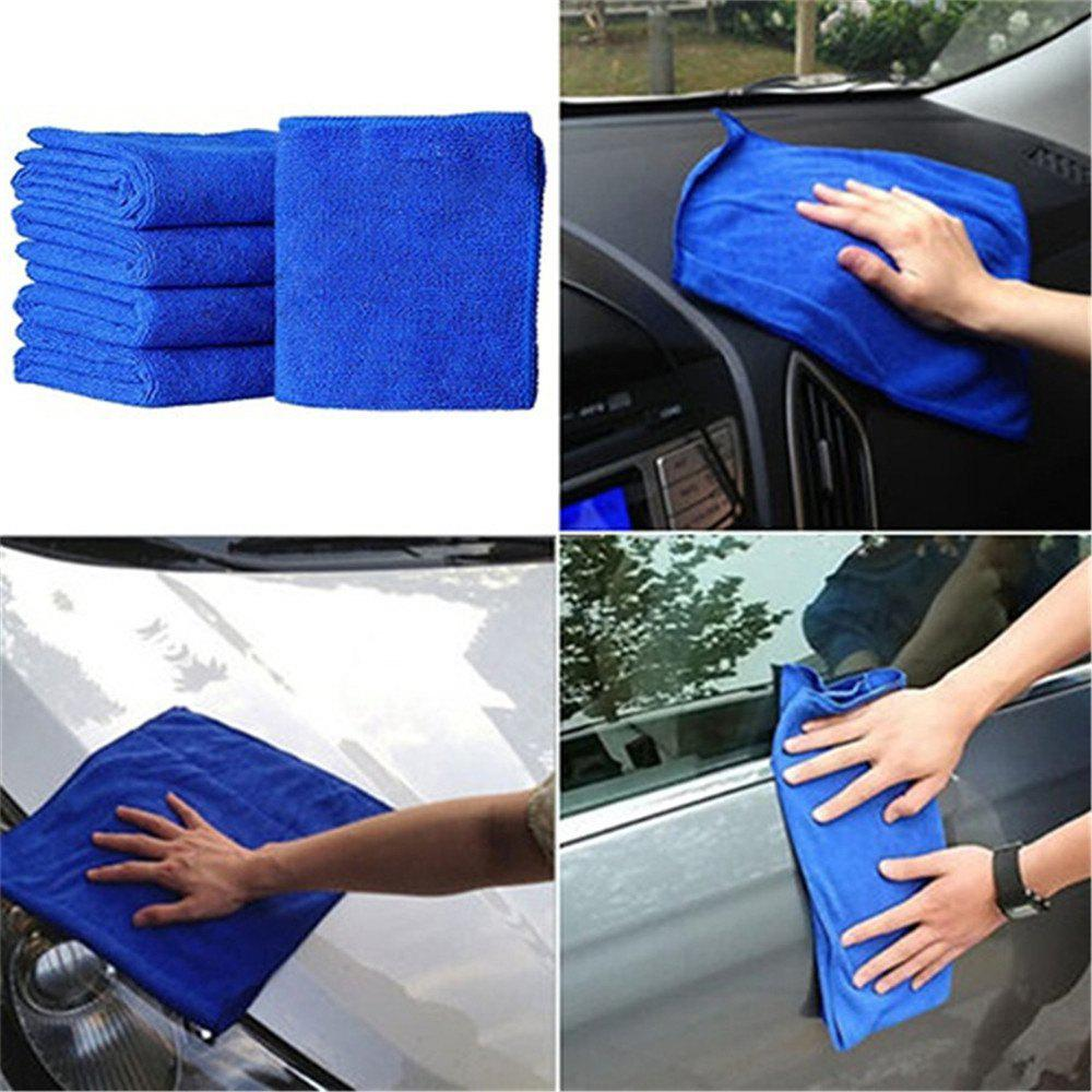 5 Square Towels for Car Washing - BLUE