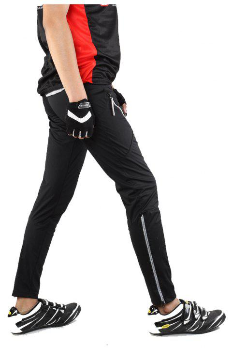 SAHOO  46872 Autumn and Winter Thin Section Breathable Moisture Cycling Pants - BLACK XL