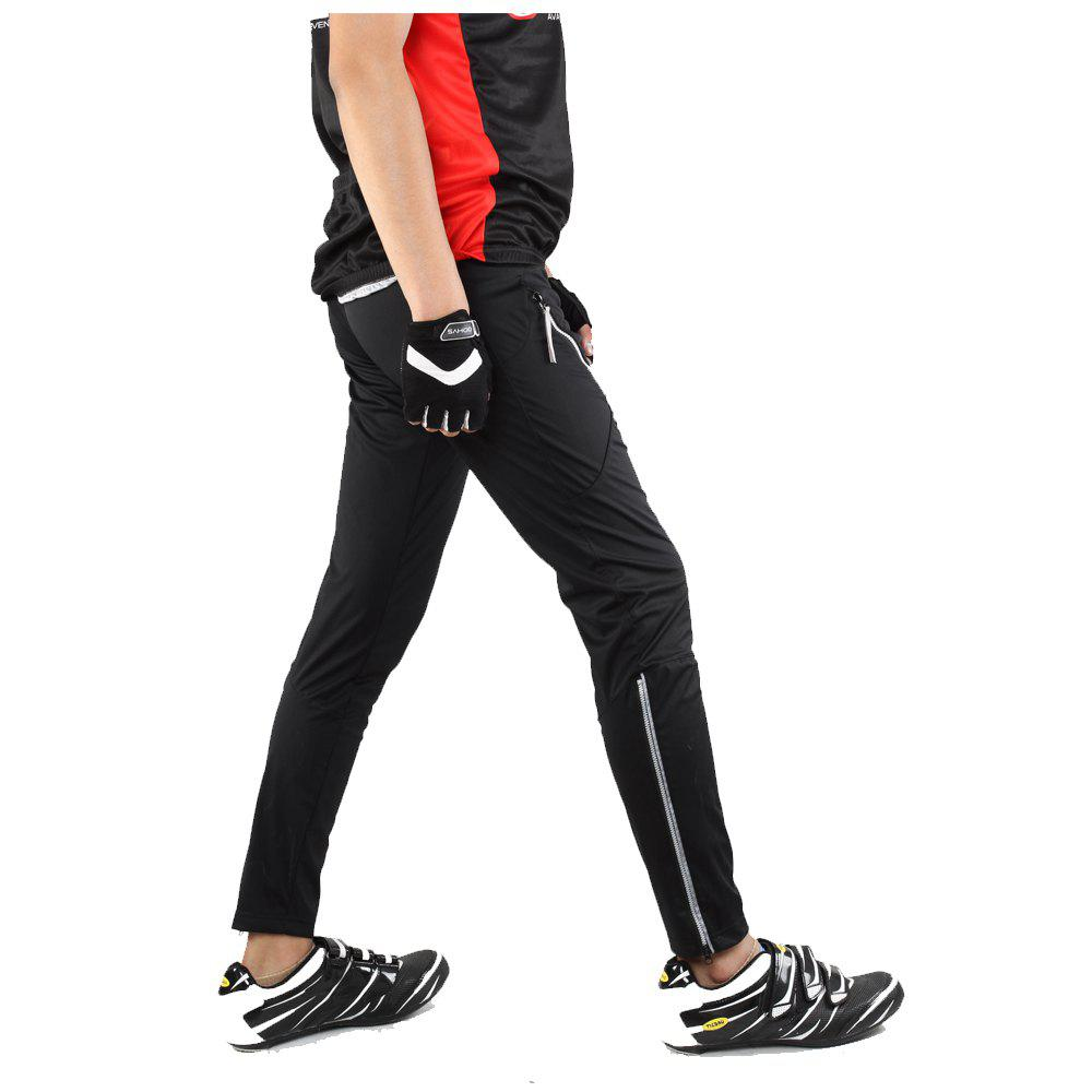 SAHOO  46872 Autumn and Winter Thin Section Breathable Moisture Cycling Pants - BLACK 2XL