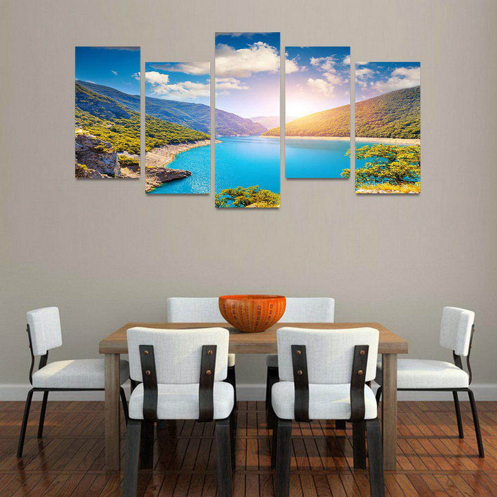 MailingArt FIV180  5 Panels Landscape Wall Art Painting Home Decor Canvas Print - COLORMIX 30X60CM 4PCS + 30X80CM 1PC   12X24INCH 4PCS + 12X3