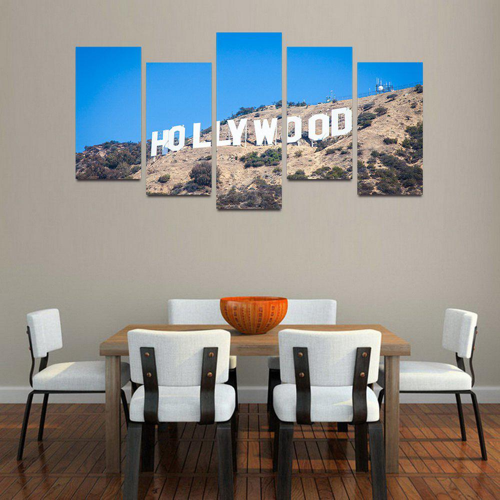 MailingArt F019 5 Panels Landscape Wall Art Painting Home Decor Canvas Print - COLORMIX 30X60CM 4PCS + 30X80CM 1PC   12X24INCH 4PCS + 12X3