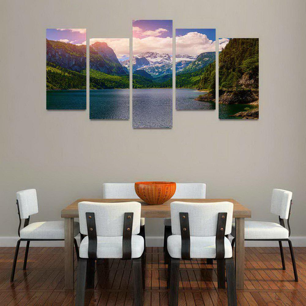 MailingArt FIV184  5 Panels Landscape Wall Art Painting Home Decor Canvas Print - COLORMIX 30X60CM 4PCS + 30X80CM 1PC   12X24INCH 4PCS + 12X3