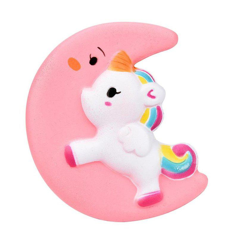 Jumbo Squishy Cartoon Kawaii Moon Fragrance Slow Rising Decompression Toy Doll - PINK