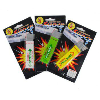 Funny Kidding Electric Shock Joke Chutty Cachou Bubble Chewing Gum Shocking Toy Gadget Prank Trick Gag 3PCS - COLORMIX