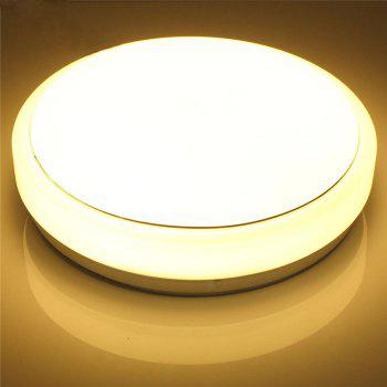 IAWEN Modern Round Simple Ceiling Light for Bedroom Hallway Balcony - WARM WHITE LIGHT