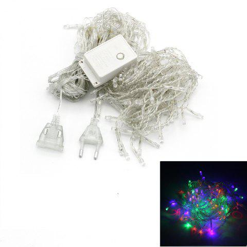 1PC New Year 3.5M Droop 96 LED Curtain Icicle String Lights 8 Modes Fairy Garland For Christmas Outdoor Decoration - COLOUR AC220V
