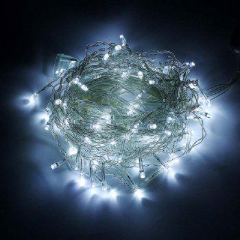 1PC New Year 3.5M Droop 96 LED Curtain Icicle String Lights 8 Modes Fairy Garland For Christmas Outdoor Decoration - WHITE LIGHT AC110V