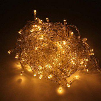 1PC New Year 3.5M Droop 96 LED Curtain Icicle String Lights 8 Modes Fairy Garland For Christmas Outdoor Decoration - WARM WHITE AC220V
