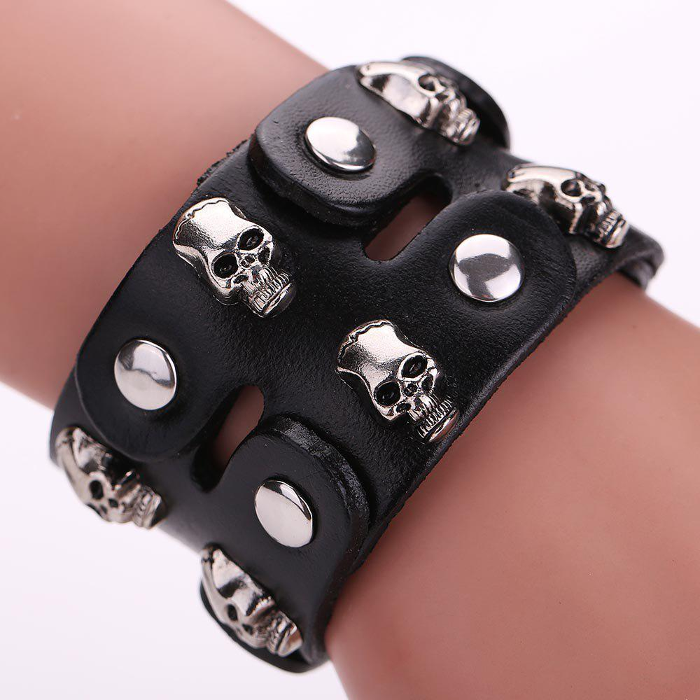 2018 mg1020 leather rivets bracelet black in bracelets for Rivets for leather jewelry