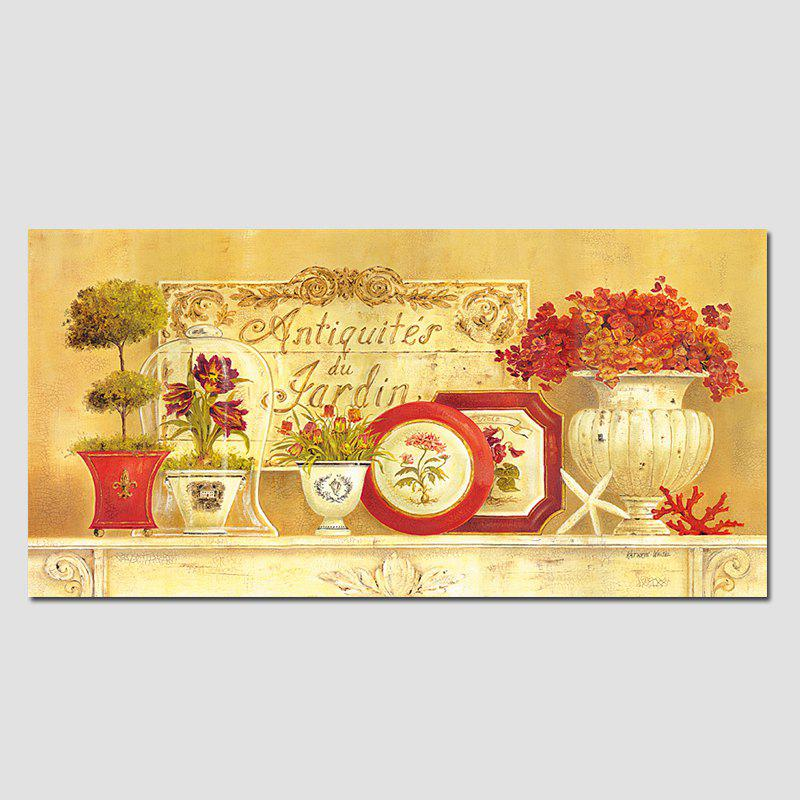 QiaoJiaHuaYuan No Frame Canvas Living Room Sofa Background Potted Plant Decoration Hanging Picture - COLORMIX 60CMX120CM