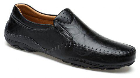 ZEACAVA Fashion Casual Business Leather Shoes for Men - BLACK 42