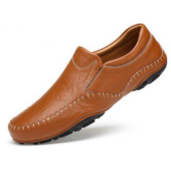 ZEACAVA Fashion Casual Business Leather Shoes for Men - BROWN 44