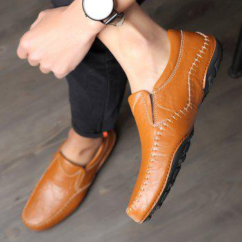 ZEACAVA Fashion Men's Spring Business Leather Shoes - BROWN 41