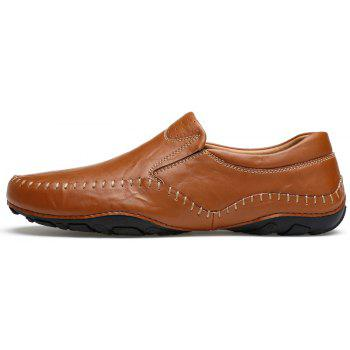 ZEACAVA Fashion Men's Spring Casual Business Leather Shoes - BROWN 42