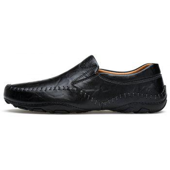 ZEACAVA Fashion Men's Spring Business Leather Shoes - BLACK 41