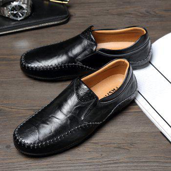 ZEACAVA Fashion Casual Business Leather Shoes for Men - BLACK 40