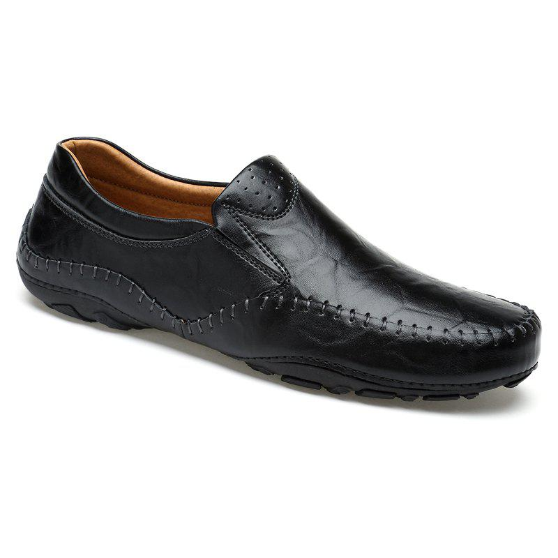 ZEACAVA Fashion Casual Business Leather Shoes for Men - BLACK 44