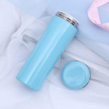 Creative Ceramic Stainless Steel Insulation Cup - LIGHT BLUE