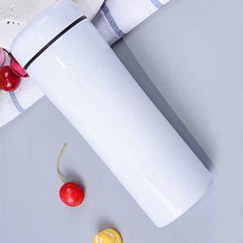 Creative Ceramic Stainless Steel Insulation Cup - WHITE