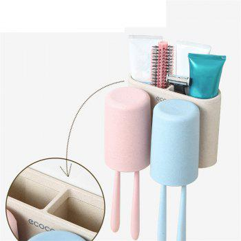 Wheat Straw Wash Rinse Toothbrush and Gargle Suit - COLOUR 15X11.5X11.4CM