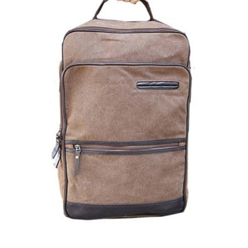Casual Bag Shoulder Computer Backpack Bags for Travel - KHAKI