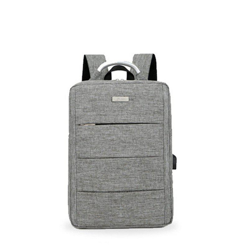 Waterproof Men Laptop Backpack Business Computer Backpack Rechargeable Bag Multifunction Bag Backpack - GRAY