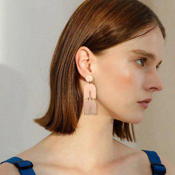 Irregular Smooth Metal Exaggerated Earrings - GOLDEN