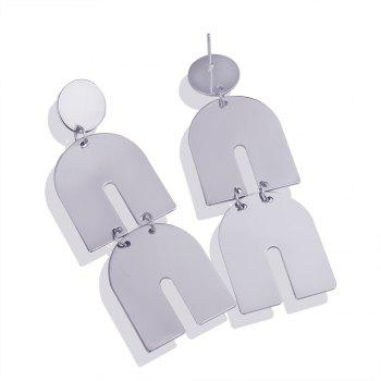 Irregular Smooth Metal Exaggerated Earrings - WHITE