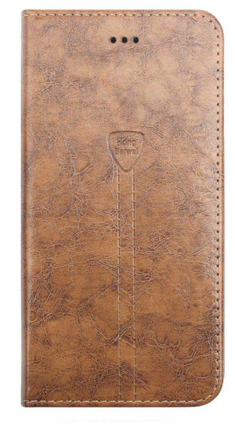 Luxury Leather Wallet Case for iPhone 7 Plus Mobile Phone Shell Handset Flip Card Slot - CAMEL