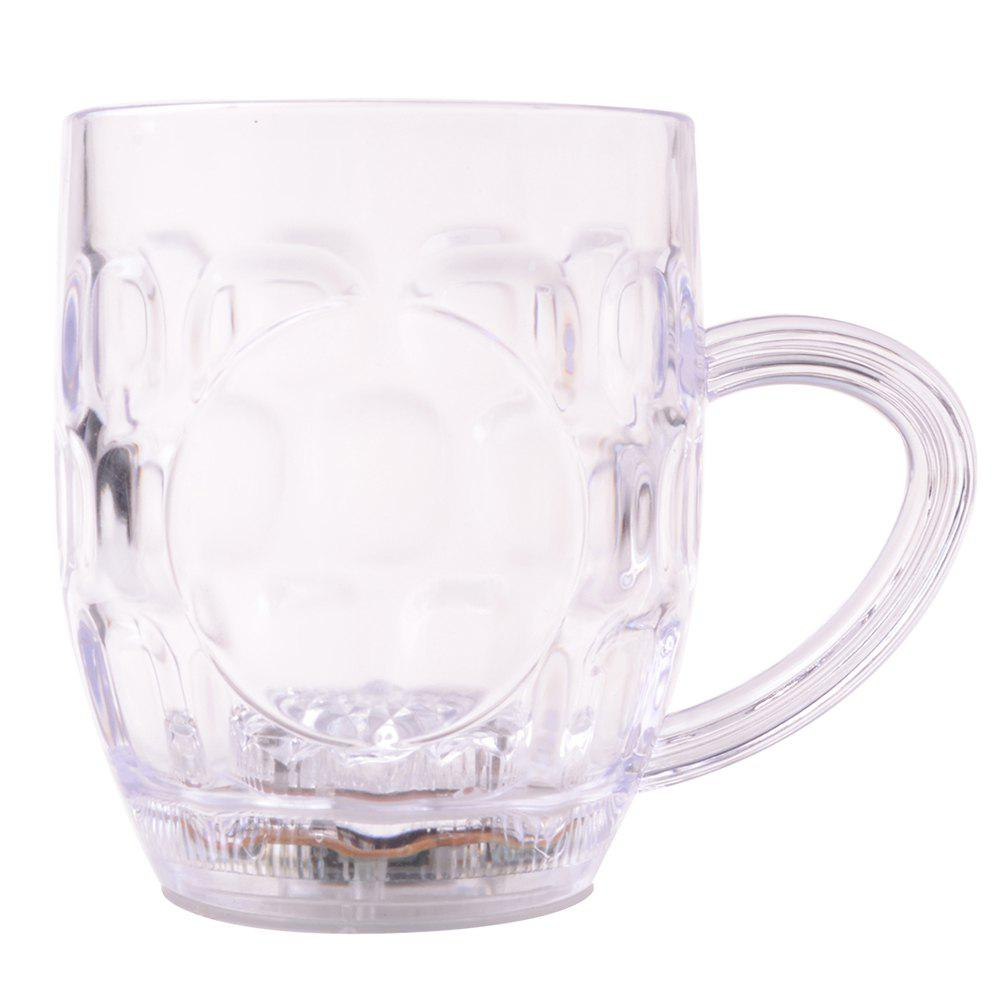 Éclairage Platinum Beer Cup LED Clignotant Inductif - Transparent