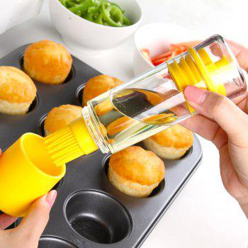 Silicone Honey Oil Bottle with Brush for Barbecue Cooking Baking Pancake BBQ Tools Kitchen Gadgets - YELLOW