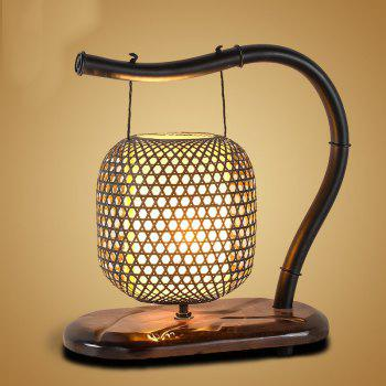 Chinese Classical Garden Bamboo Wooden Lamps - BROWN