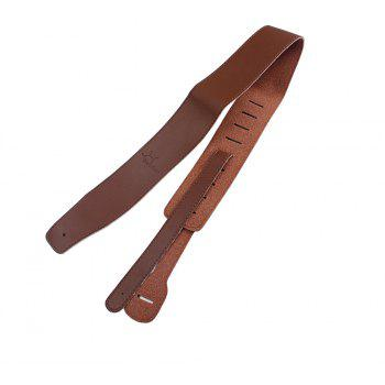 Homeland High Quality PU Leather Soft Durable Acoustic Electric Bass Guitar Strap - BROWN