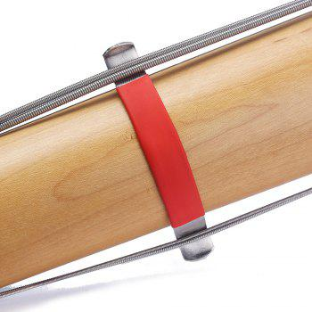 Guitar Bass String Spreader for Polish Cleaning Fretboard Fret Care Luthier Tool - RED