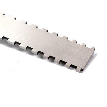 Homeland Stainless Steel Guitar Neck Notched Straight Edge Luthiers Tool - SILVER