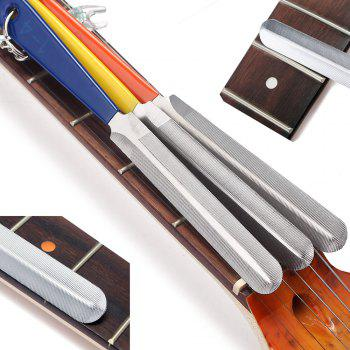 Professional Luthier Tools Nut File Set for Mandolin Bass Guitar - COLORMIX