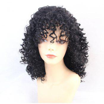 Wigs for Women Charming Black Medium Long Curly Hair - BLACK
