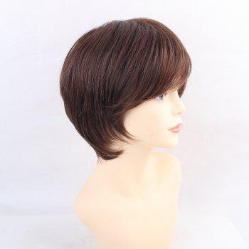 Wigs for Women Refreshing Natural Brown Short Human Hair Wigs - BROWN