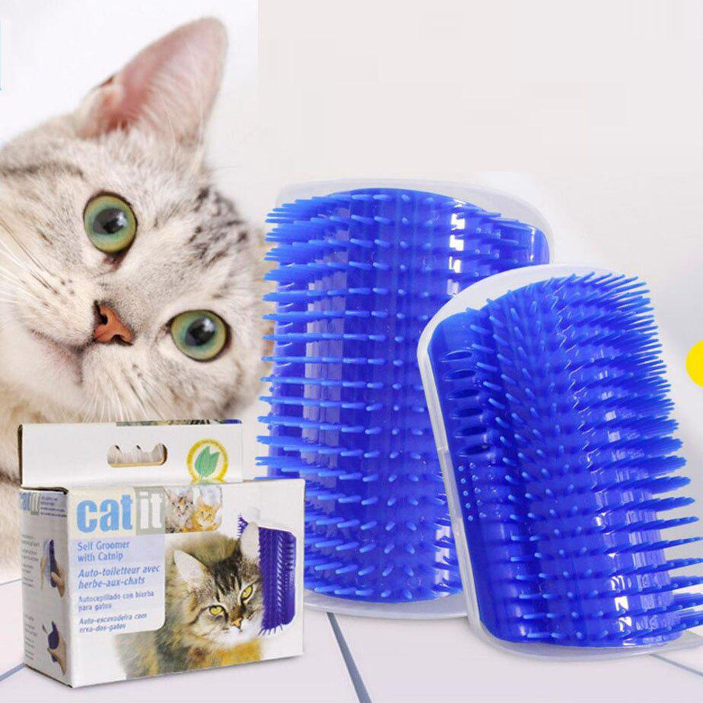 Plastic Pet Cat Massager Brush Comfortable Corner Cat Massage Self Groomer Comb Brush Pet Accessories laser scalp massager lll therapy anti hair loss problem product for sale 64 diodes free massage comb