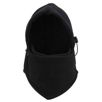 6 In 1 Balaclava Outdoor Ski Masks Bike Cyling Beanies Winter Wind Stopper Face Hats - BLACK