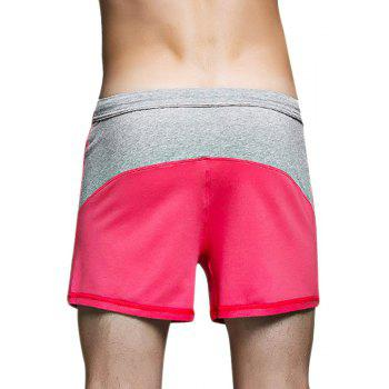 Daifansen New Men's Casual Home Shorts - RED L