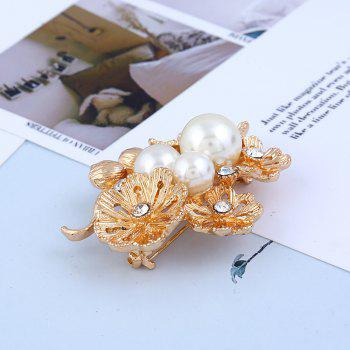 Pop Goddess Daisy Pin Flower Brooch - GOLD/WHITE